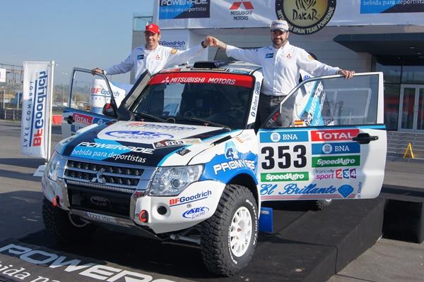 Rubén Gracía al Dakar con el Mitsubishi Montero