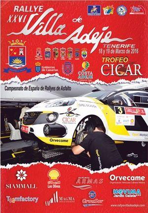 Cartel rallye adeje 2016