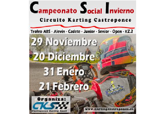 Campeonato Social de Invierno de Karting.