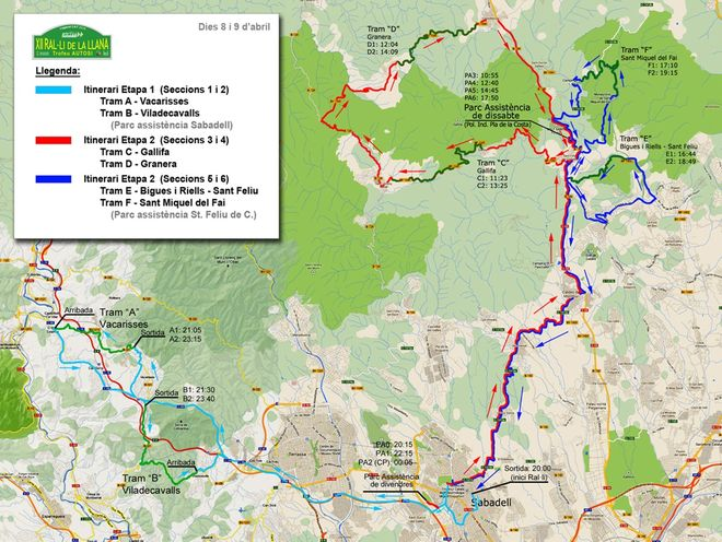 mapa_2016_General Rallye La Llana