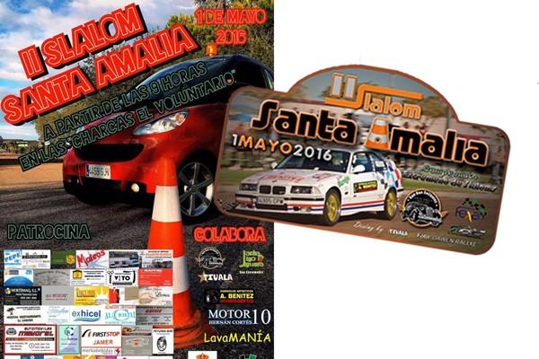 Cartel y placa slalom Sta Amalia 2016