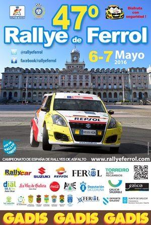 cartel 47 rallye Ferrol