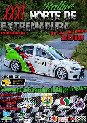 cartel rallye Norte de Extremadura 2016