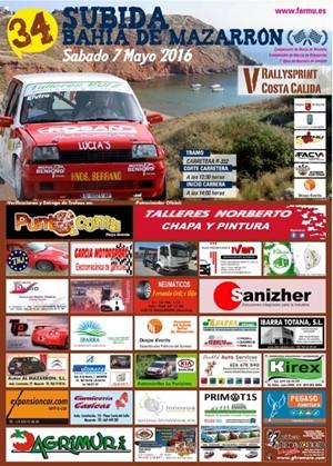 MT Racing - Previo Subida Mazarron 2016 Cartel