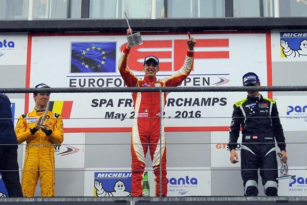 Pulcini podio euroformula open f3 spa