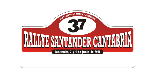 placa rallye santander 2016