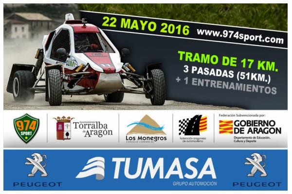 El Campeonato de Aragón de Tramos de Tierra arranca en Torralba este fin de semana