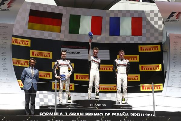 podio porsche supercup cataluña