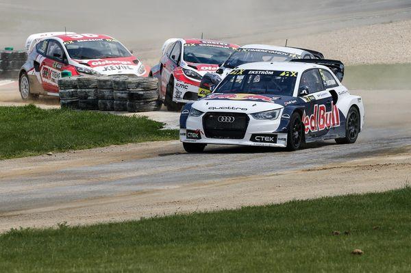 rallycross belgica EKSTROM LEADS
