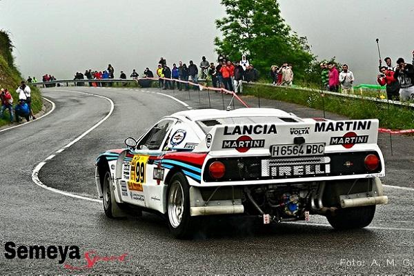 Lancia Rallye 037 de J. Puyol por el tramo de Alisas en la edición del 2015
