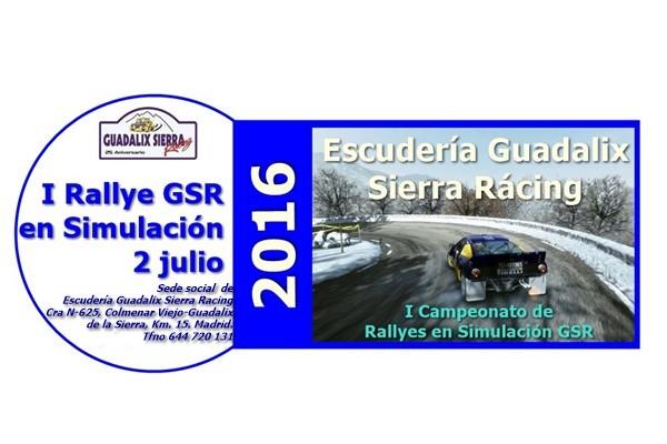 Cartel Rallye Simulación GSR julio 2016