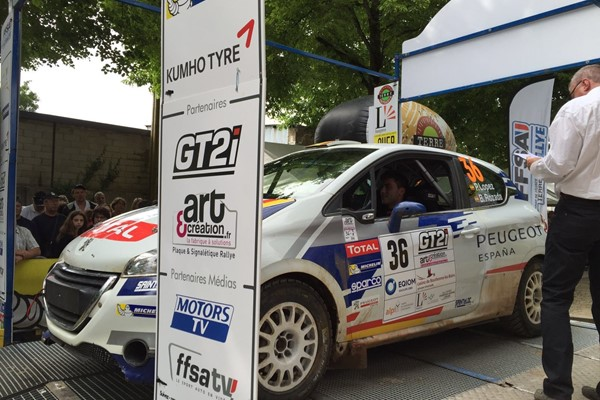 podio salida lopez peugeot 208 rally cup langres