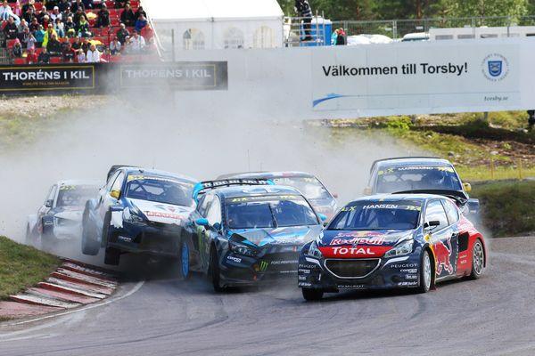 Loeb Hansen rallycross suecia