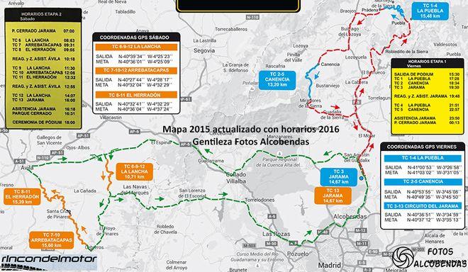Mismos tramos para el VII Rallye Comunidad de Madrid