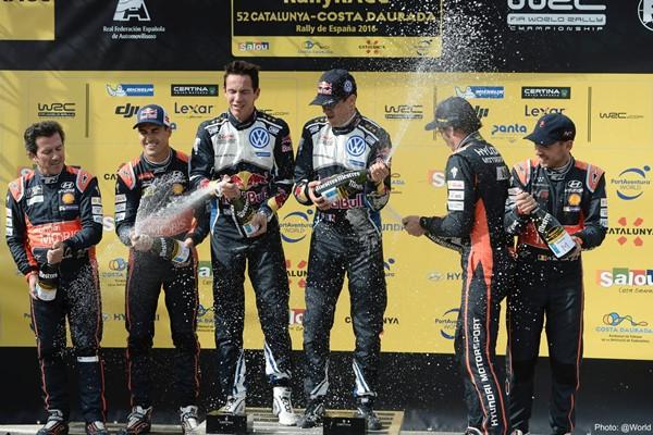 ogier champagne rallye españa