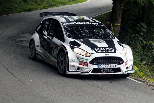 Óscar Palacio en el Rallye de  La Felguera