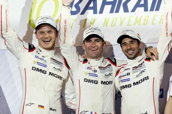 Porsche cierra un año de éxitos en el podio de Baréin