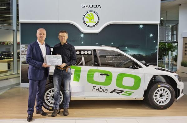 Skoda alcanza las 100 entregas del Fabia R5