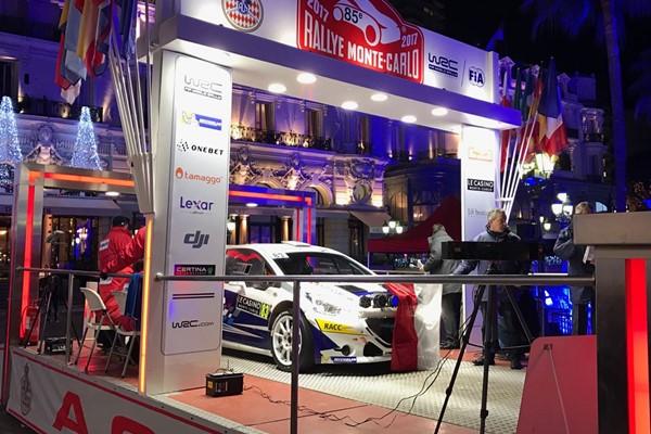 Pepe López y Borja rozada comienzan el Rallye de Montecarlo