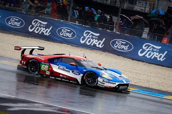 El equipo Ford GT al completo en las 24 horas de Le Mans