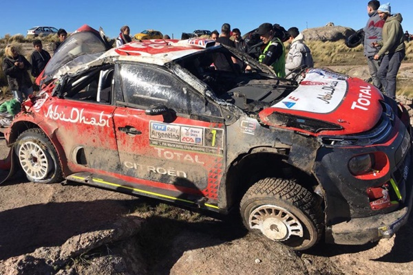 accidente Meeke rallye argentina C3