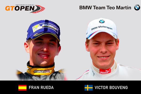 Fran Rueda será el compañero de Victor Bouveng en el GT Open