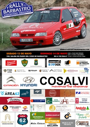 cartel rallye barbastro 2017