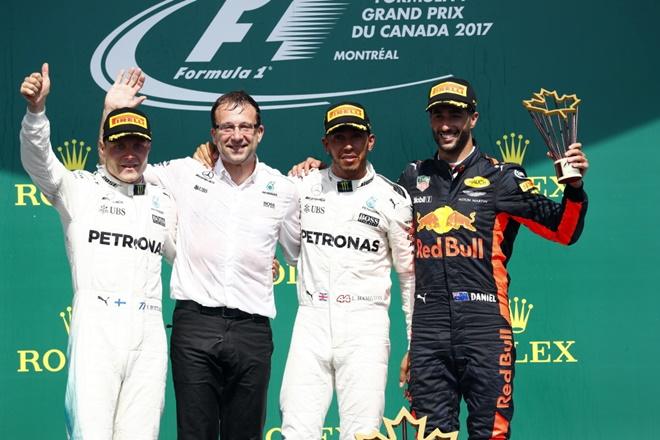 Hamilton sin fallos en Canadá aprovecha para acercarse a Vettel