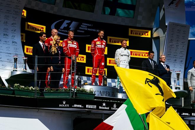 ferrari vettel raikkonen podio hungaroring f1