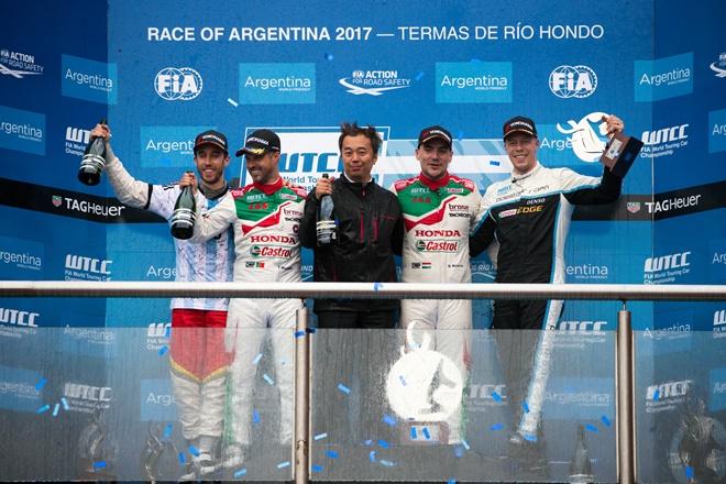 podio honda argentina wtcc mitchelitz