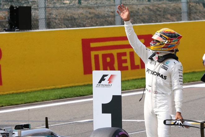 hamilton f1 pole record spa