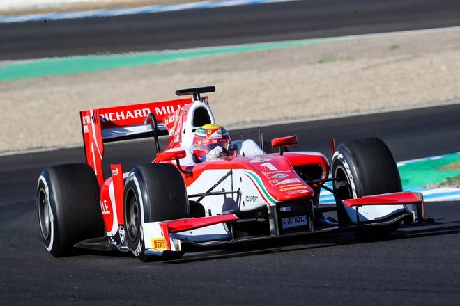 Leclerc F2 pole jerez