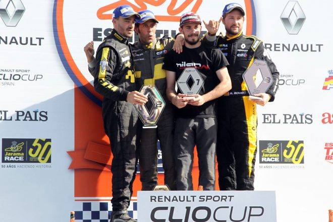 clio cup madrid podio