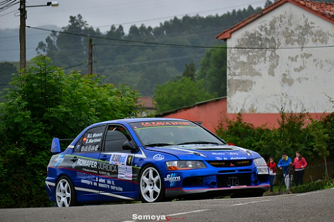Rubén Iván Blanco Campeón de Asturias tras el Rallysprint Villa de Luarca
