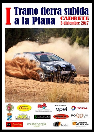 cartel rallye tierra cadrete 2017