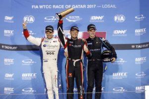 podio qatar wtcc campos racing Kris Richard