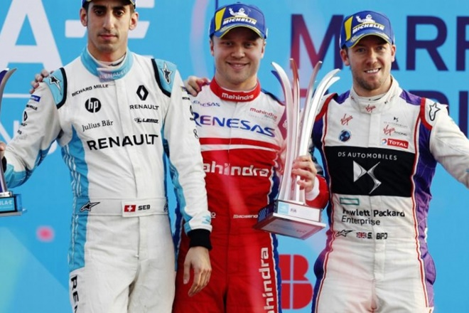 mahindra campos racing podio marruecos formula e rosenqvist