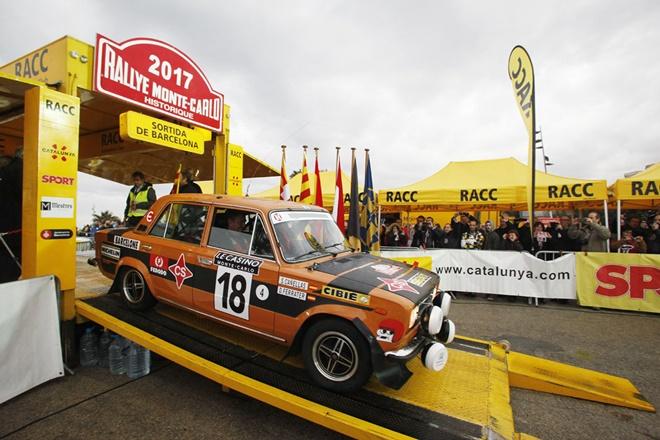 podio salida barcelona monte-carlo historico seat 1430