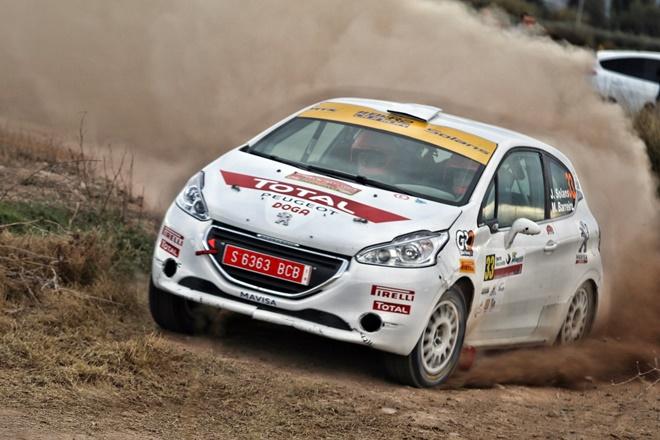 Jan Solans rallye lorca bkr2 peugeot 208 r2