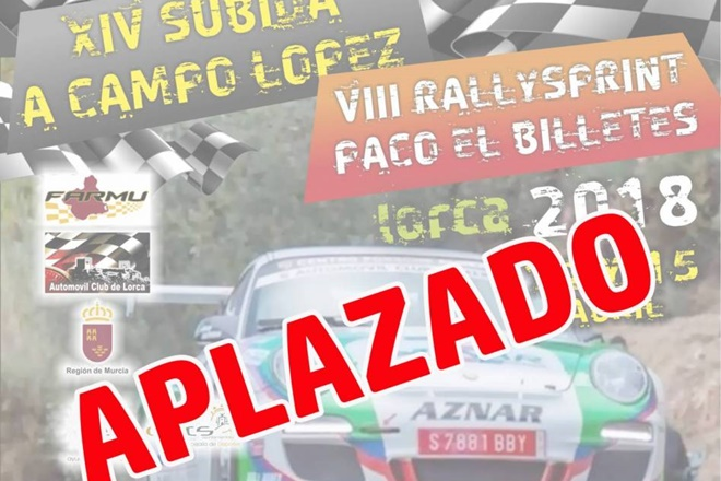 ► Murcia: Aplazadas la Subida a Campo López y Rallysprint Paco El billetes