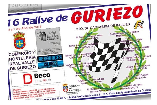 cartel Rallye Guriezo 2018