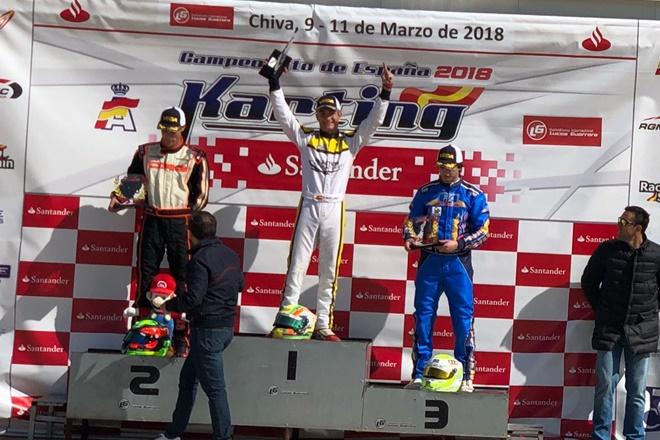Rubén Moya líder del Campeonato de España de karting