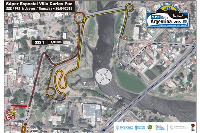 mapa tramo villa paz rallye argentina 2203