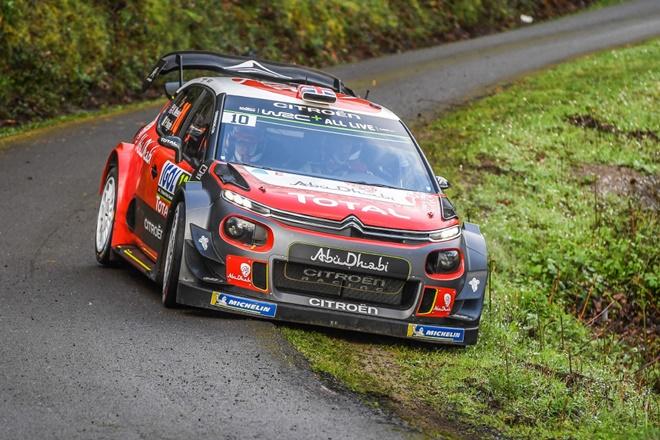 Meeke Citroën C3 WRC Shakedown Tour de Corcega