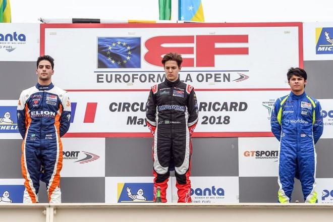 Euroformula open Paulr Ricard podio carrera 2 Iorio Drugovich Das