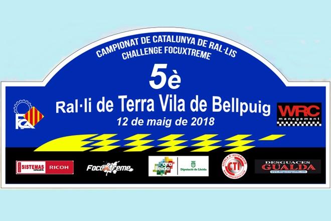 Placa Rallye Tierra Bellpuig 2018