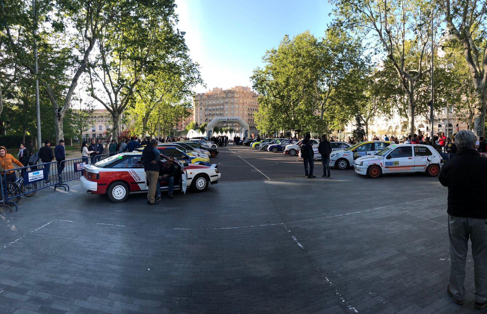 Rallye de Valladolid parque cerrado