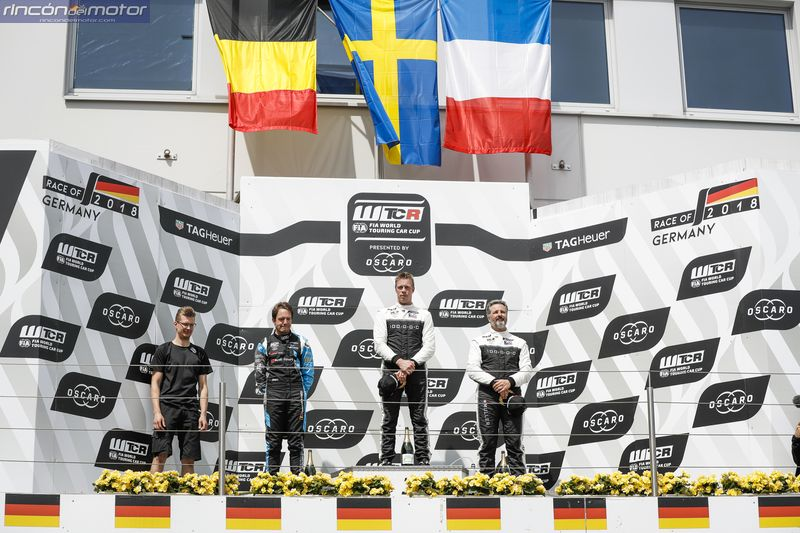 WTCR Nurburgring podio 3