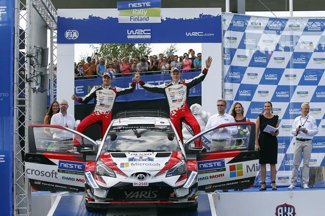 rallye finlandia podio tanak 3007
