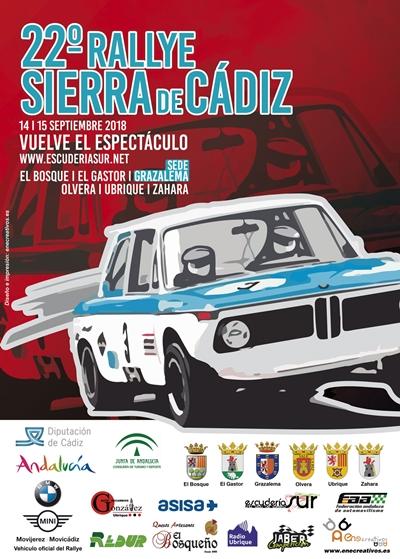 Cartel Rallye Sierra de Cádiz